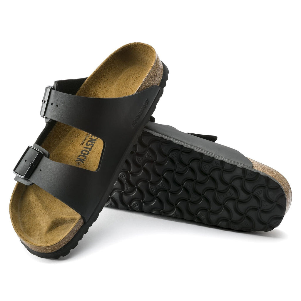 Arizona Black Birko-Flor Sandals - Regular