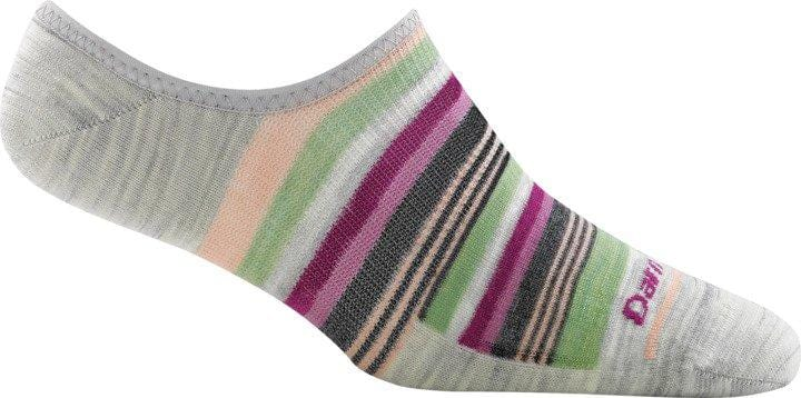 Women's Topless Multi Stripe No Show Hidden Light Sock