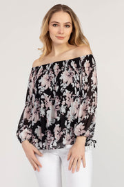 Women's On and Off Shoulder Plisse Blouse