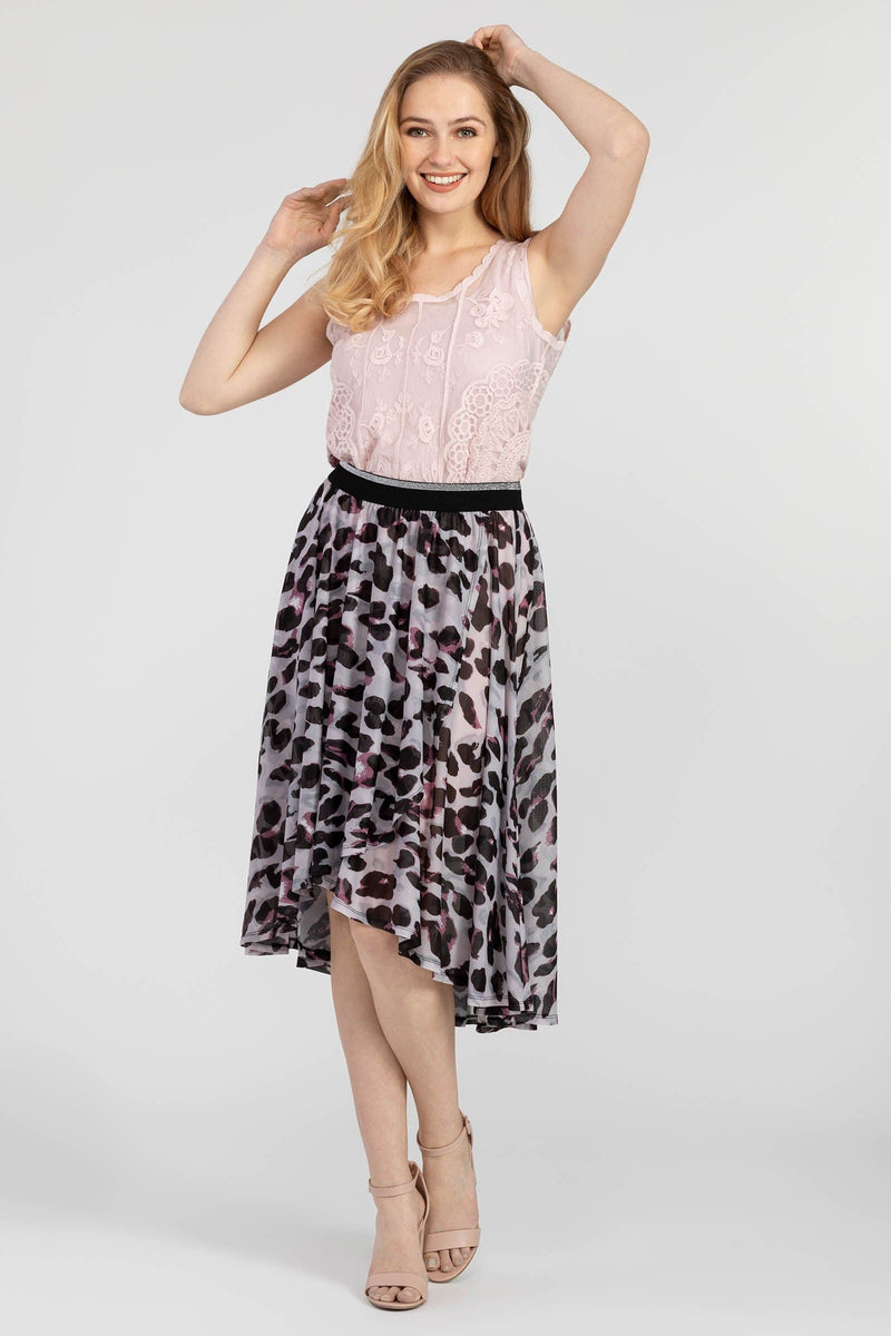 Women's High/Low Faux Wrap Skirt