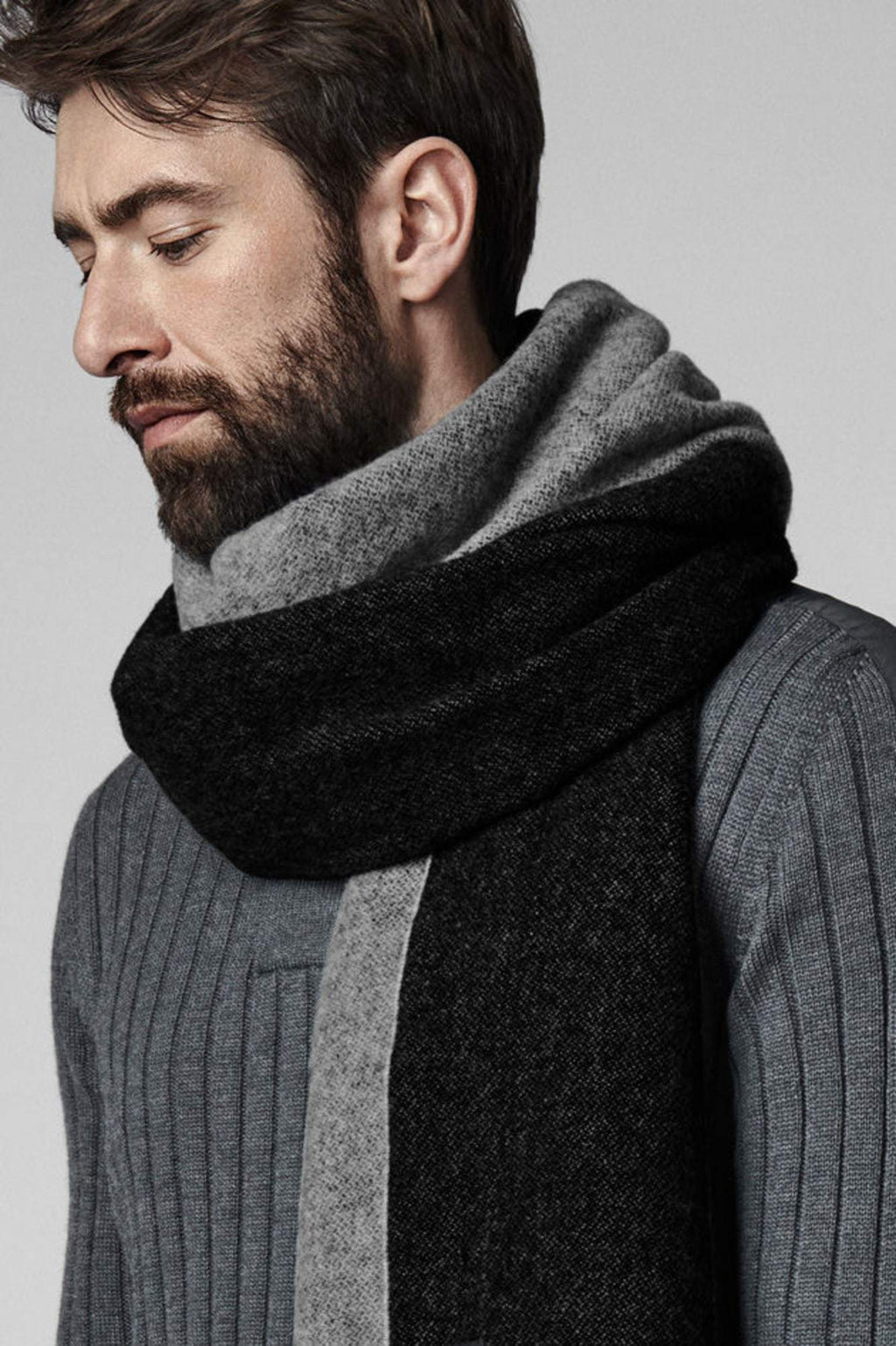 Men's Two Colour Woven Scarf