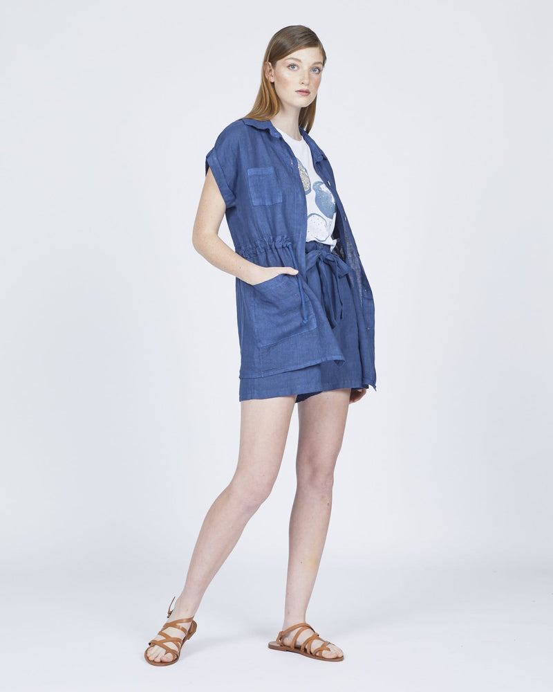 Linen Shorts with Removable Belt