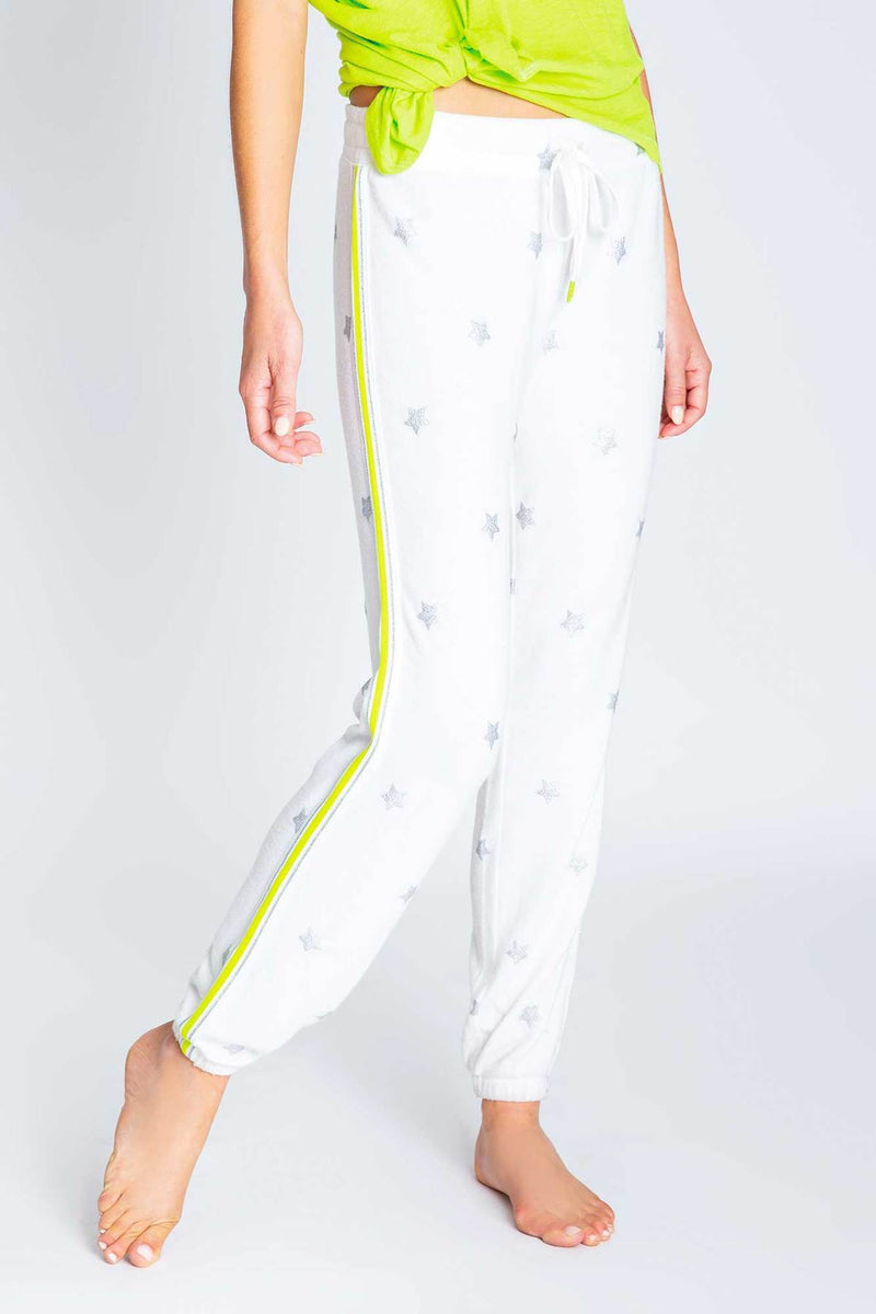 Women's Neon Pop Metallic Stars Banded Pant