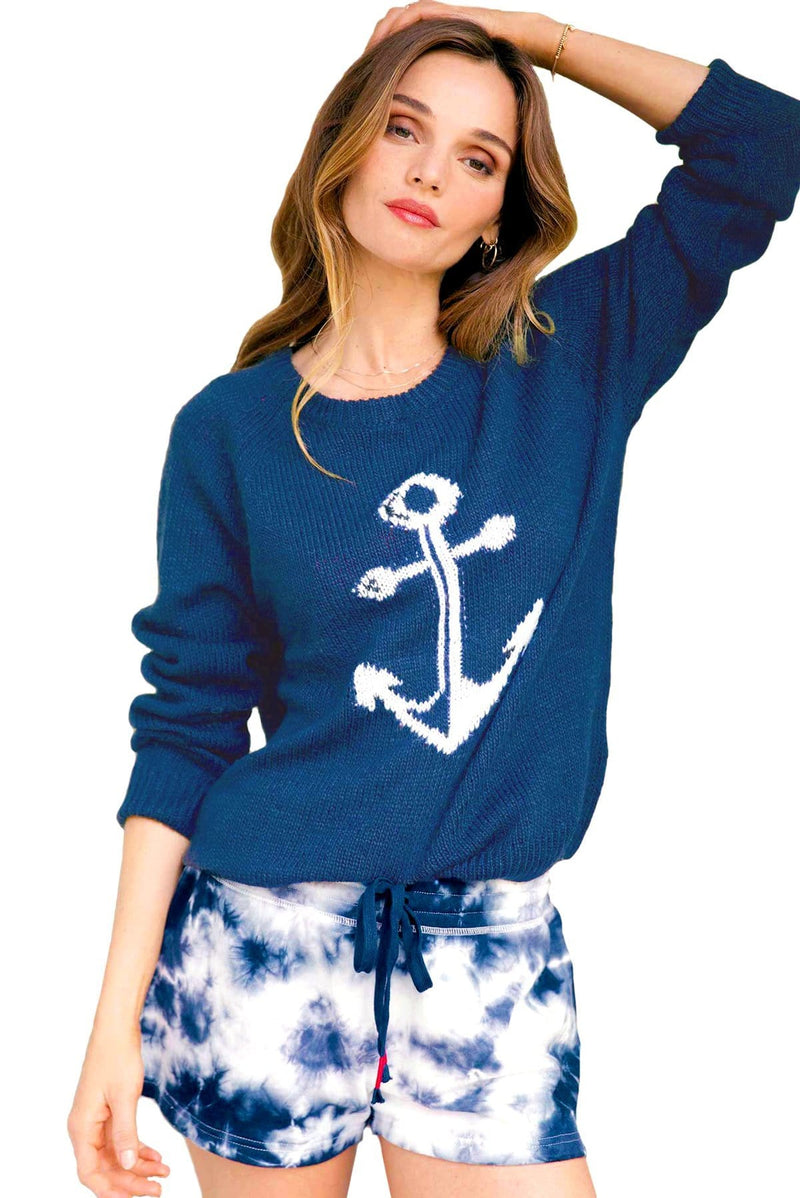 Women's Tie Dye Lounge Anchor LS Top