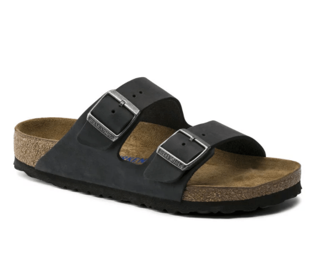 Arizona Soft Footbed Sandal - Narrow (Black, size 45)