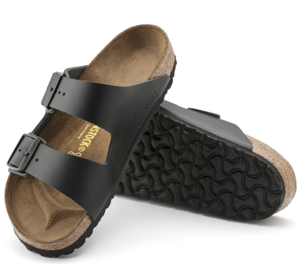 Arizona Black Leather Sandal - Regular