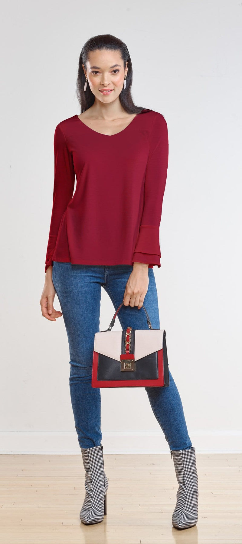 Felicity Reversible Bell Sleeve Top