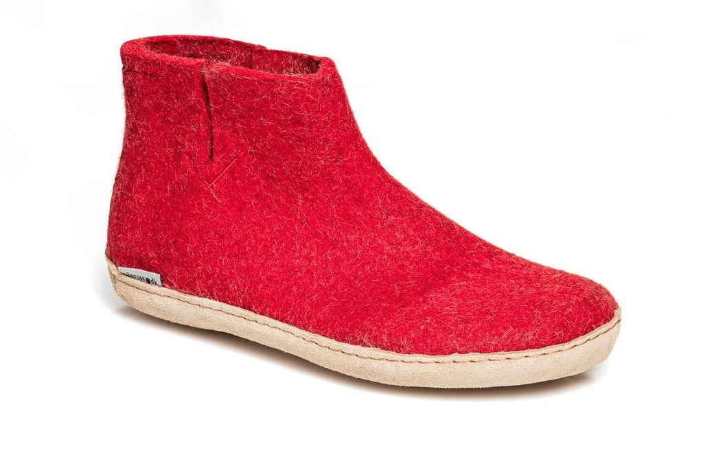 Glerups Low Boot - Leather - Red