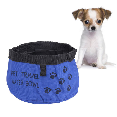 Pet Dog Cat Collapsible Foldable Design Portable Pet Dog Cat Collapsible  Bowl Travel Camping Food Water Feeder Bowl With Hook
