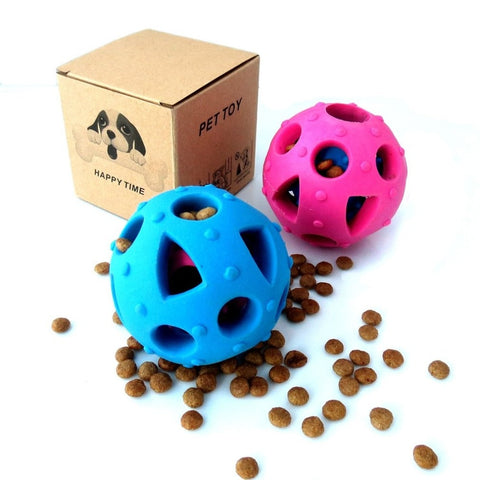 Small Size Pets Dogs TPR Leakage Ball Chew Dispenser Toy Funny Portable Size Interactive IQ Toys Balls Tooth Chew Play Toys