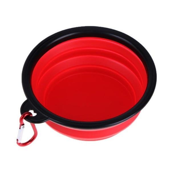 Dog Folding Travel Bowls Collapsible Feeding Bowl Silicone Water Dish Cat Portable Pet Feeder Bowls