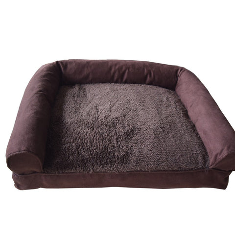 XL Size Plush Suede Pet Bed Soft Warm Sofa Dog Bed Cushion for Kennel Dogs