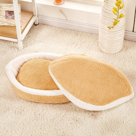 Removable Cat's Bed Universal Dog Kennel Super Soft Pet Hamburger Nest Comfortable Shell House Portable Pet Supplies