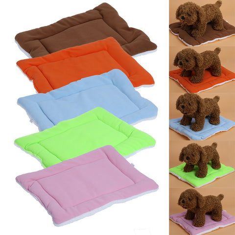 Warm Soft Fleece Pet Dog Cat Bed Mats Cushions Indoor Air Conditioning Mat for Small Dogs Puppy Cat Pet Supplies