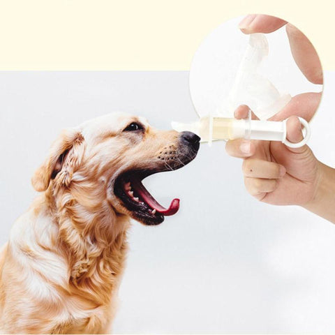 Dog Cat Pacifier-type Drug Feeder Anti-choke Needle Feeder Medicine Dropper Dispenser Pill Injection Pacifier W/Scale Pet Feed