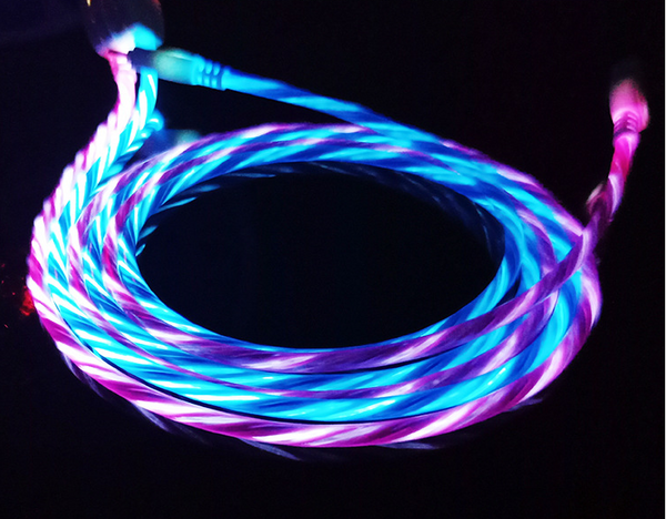Luminescent data cable