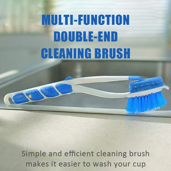【50% OFF & Buy two freeshipping】Multi-function Double-end Cleaning Brush