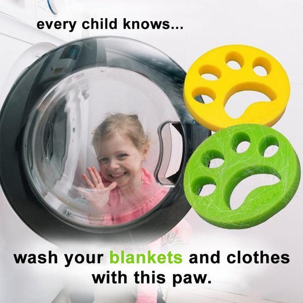 Pet Hair Remover paw for Laundry