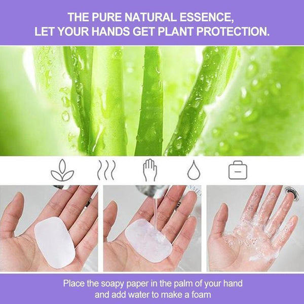 Portable Hand-Washing Paper 5 boxes (FREE SHIPPING)