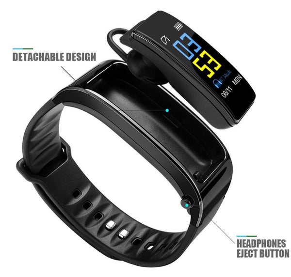【Free Shipping Today】2-in-1 Smart Bracelet with Bluetooth Earphone