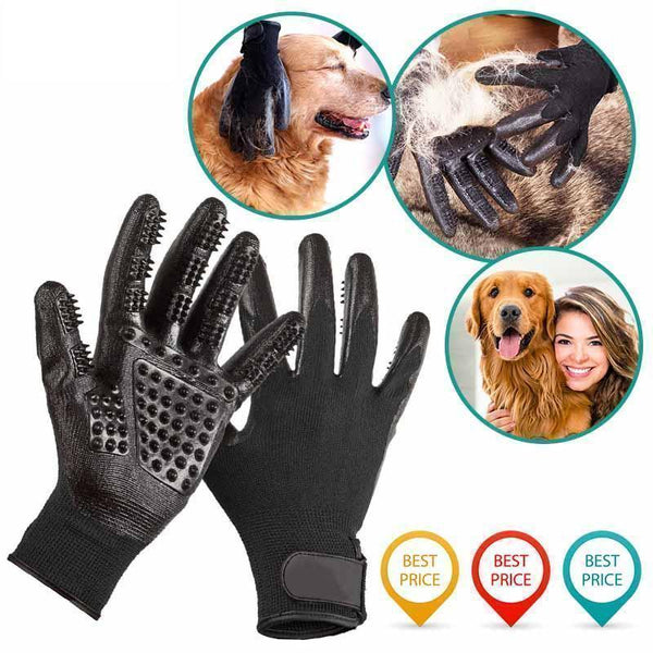 Upgrade Animal Grooming Gloves