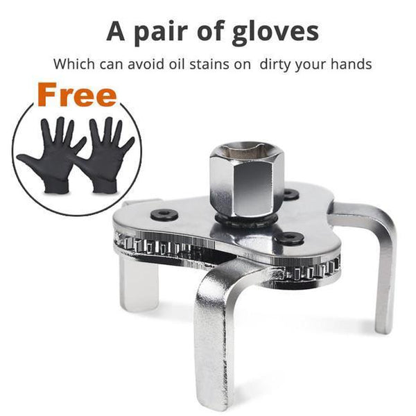 Get a free pair of gloves New Universal 3 Jaw Oil Filter Wrench