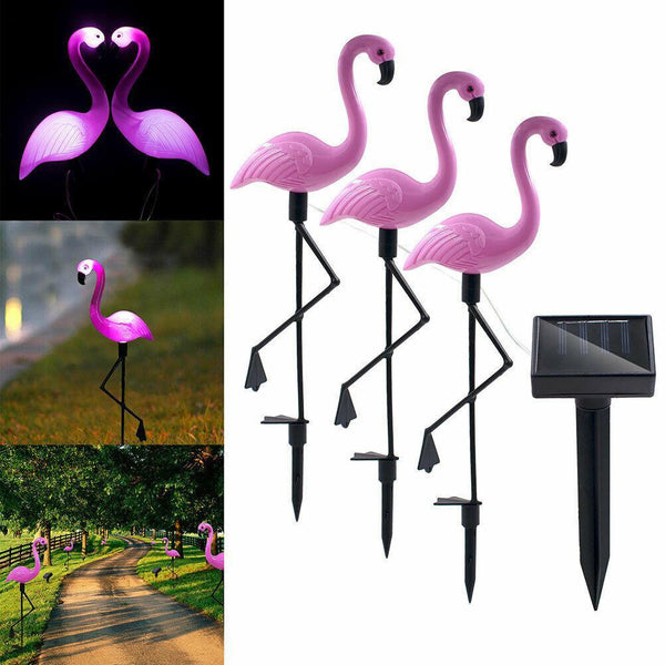 Hot Sale🔥Flamingo Lawn Lamp🦢Garden Outdoor Decor Solar Lights Path  with Solar Panel Waterproof-  Yard Ornaments