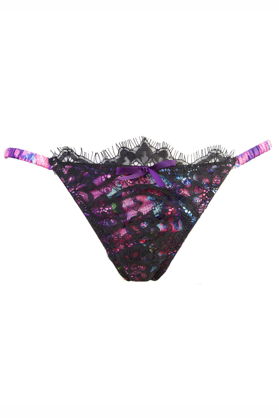 Peek & Beau Leonora Snake Print Satin and Lace Brief