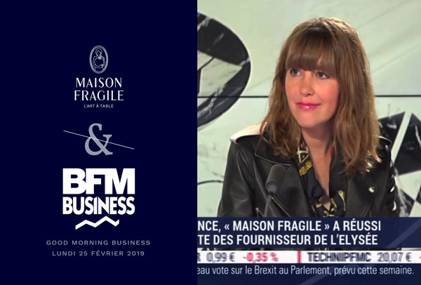Maison Fragile dresse sa table sur le plateau de BFM Business