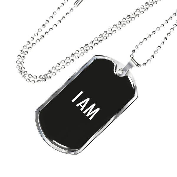 PLAQUE ID I AM (noir) – IONKS N1