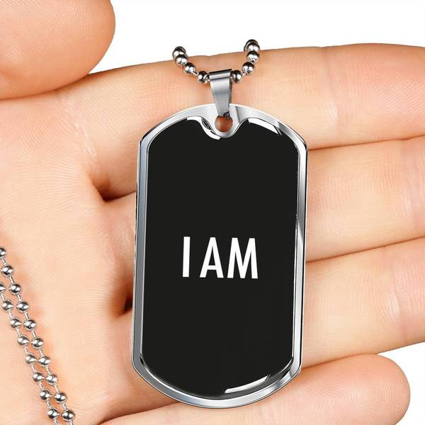 PLAQUE ID I AM (noir) – IONKS N3