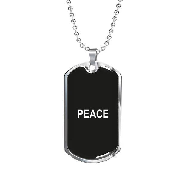 PLAQUE ID PEACE (noir) – IONKS N2