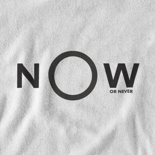 T-SHIRT NOW OR NEVER IONKS BLANC N2