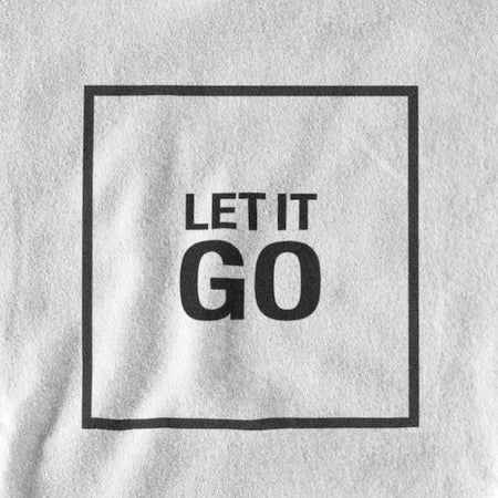 T-SHIRT UNISEXE LET IT GO (blanc) – IONKS N2