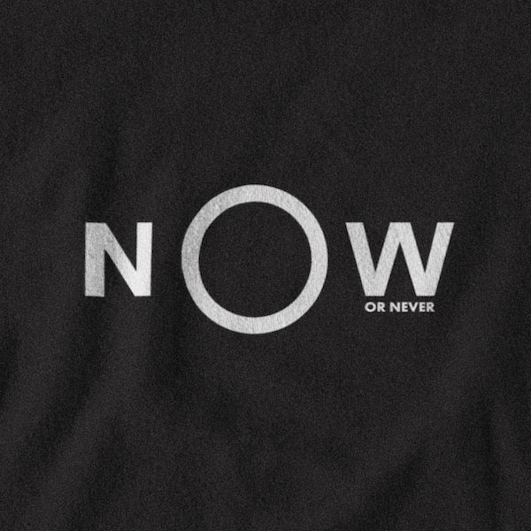 T-SHIRT UNISEXE NOW OR NEVER (noir) – IONKS N2