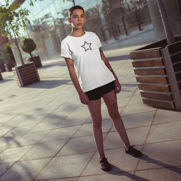 T-SHIRT UNISEXE STAR (blanc) – IONKS F1