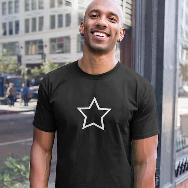 T-SHIRT UNISEXE STAR (noir) – IONKS M1