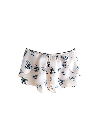Blush Fern Silk French Knickers