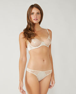 Champagne Lace Brief