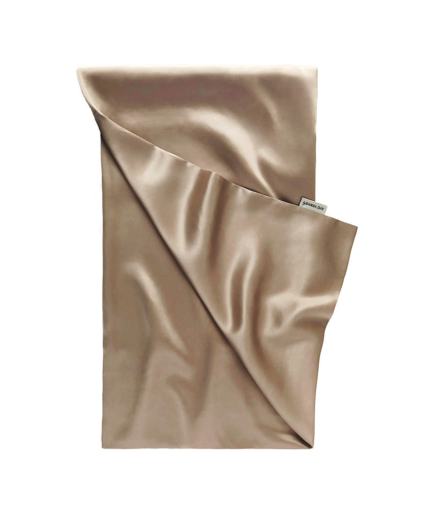 French Beige Silk Pillowcase