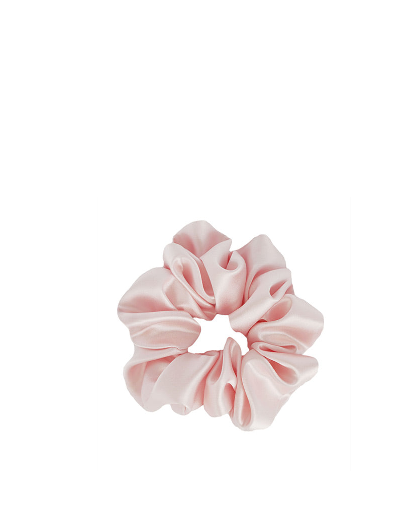 Silk Scrunchie Blush Pink