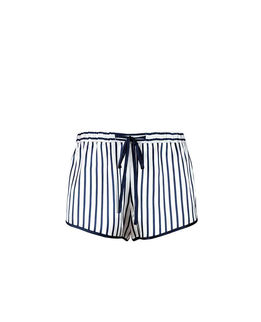 Regency Stripe Silk Shorts