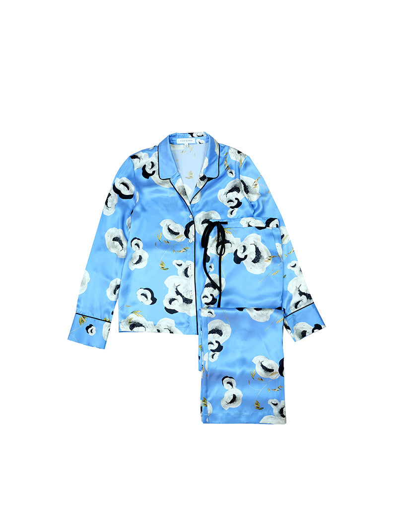 Ultra Blue Peony Pyjama Bottoms