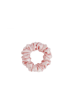 Small Silk Scrunchie Blush Pink
