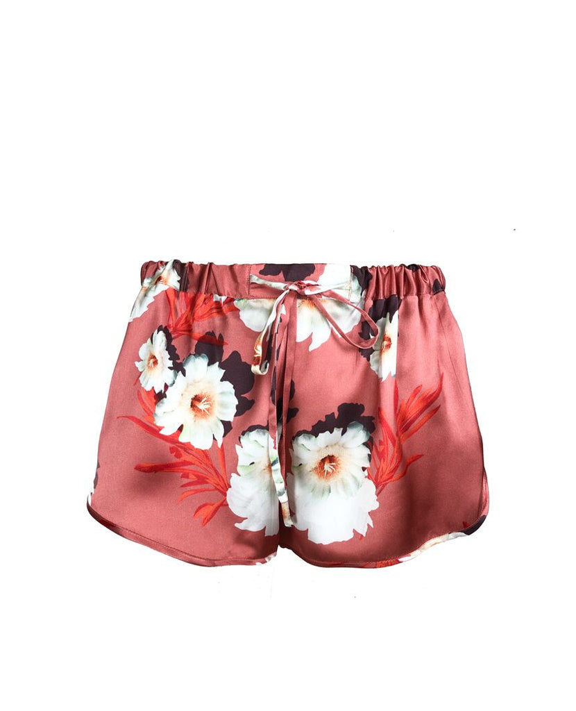 Silk Pyjama Short in Desert Bloom