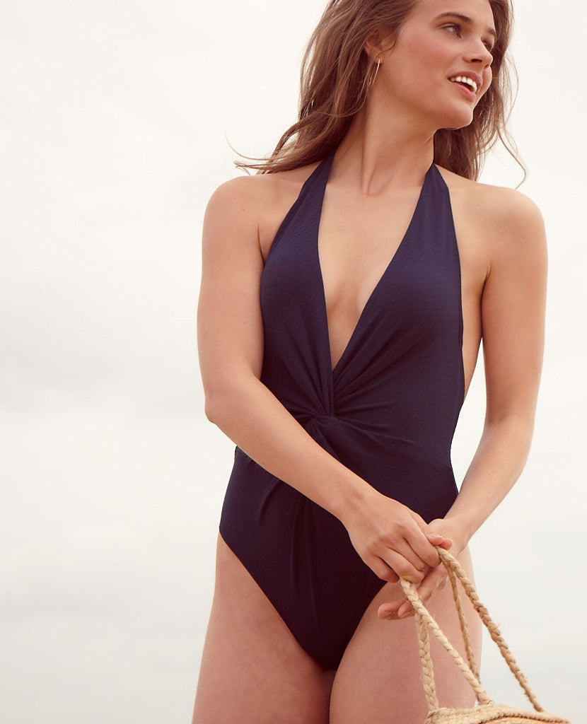 Tidal Wave Knotted Swimsuit