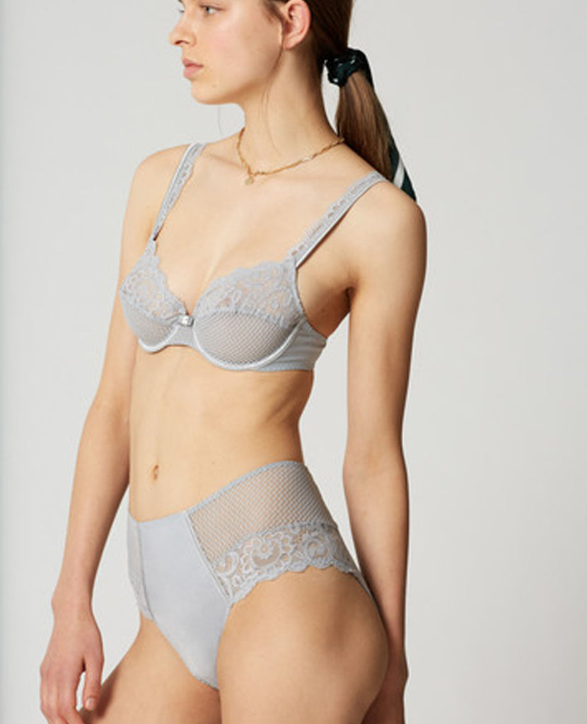 Gaby Grey Lace Full-Cup Bra