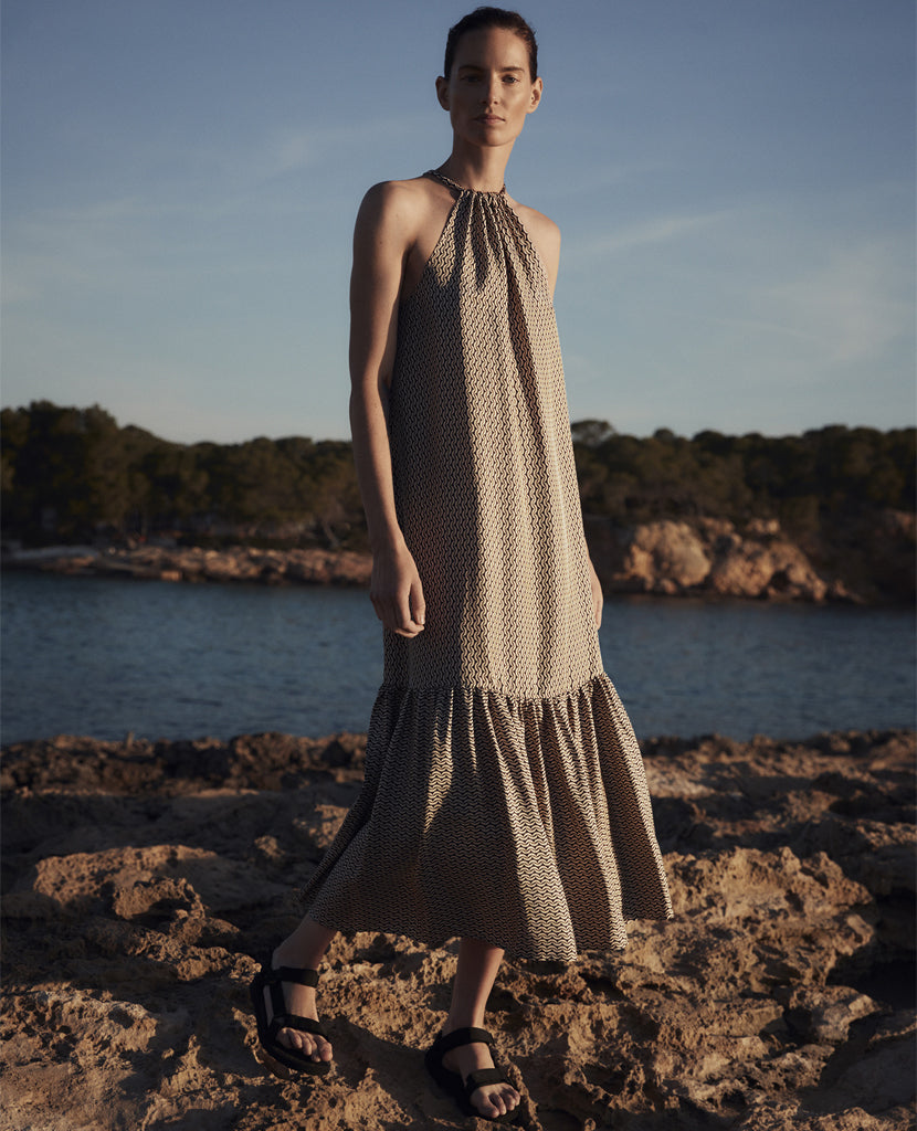 The Ibiza Cresent Silk Dress