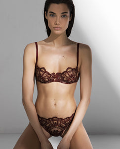 Desert Rose Embroidered Underwire Bra