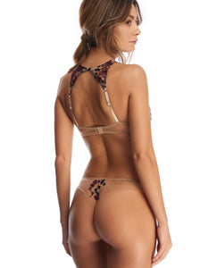 Midnight Delights Embroidered Thong
